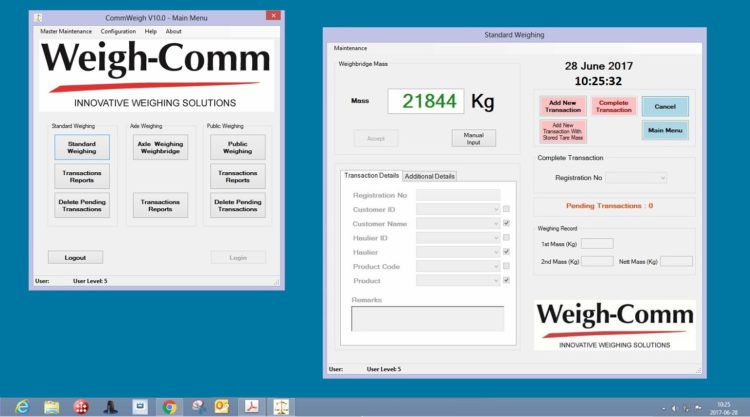 CommWeigh Software